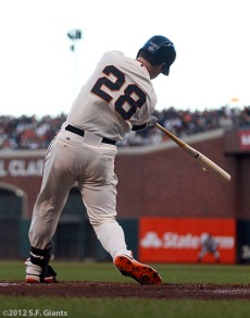 San Francisco Giants, S.F. Giants, photo, 2012, World Series, Buster Posey