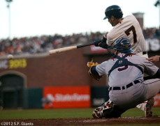 San Francisco Giants, S.F. Giants, photo, 2012, World Series, Gregor Blanco