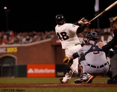 San Francisco Giants, S.F. Giants, photo, 2012, World Series, Pablo Sandoval