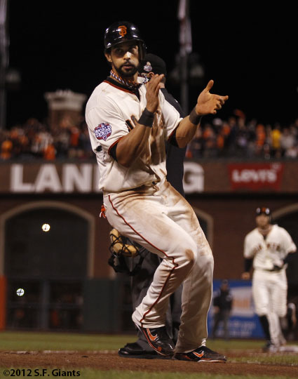 San Francisco Giants, S.F. Giants, photo, 2012, World Series, Angel Pagan
