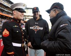 San Francisco Giants, S.F. Giants, photo, 2012, World Series, Nicholas Kimmel, Barry Zito and Willie Mays