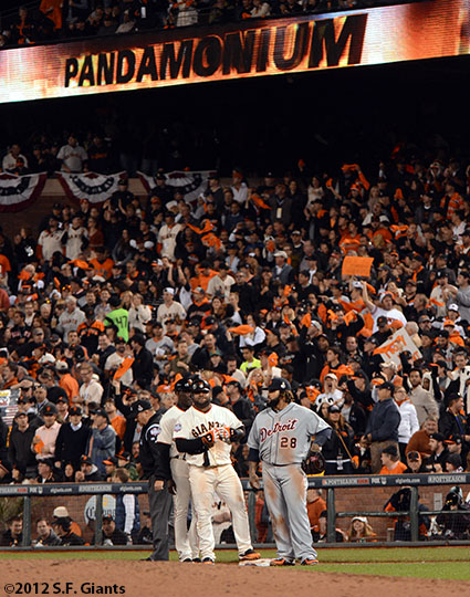 San Francisco Giants, S.F. Giants, photo, 2012, World Series, Pablo Sandoval, Prince Fielder