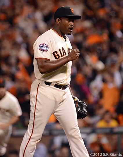 San Francisco Giants, S.F. Giants, photo, 2012, World Series, Santiago Casilla