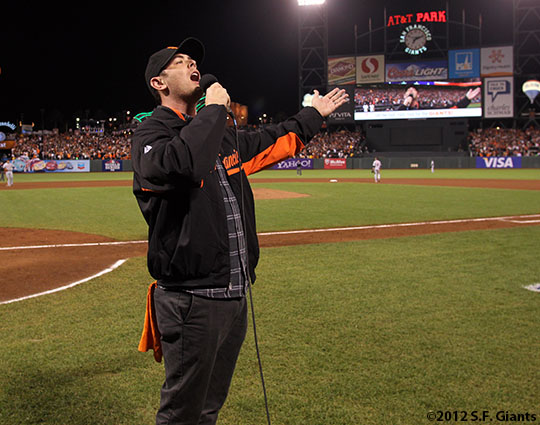 San Francisco Giants, S.F. Giants, photo, 2012, World Series, Colin Hanks