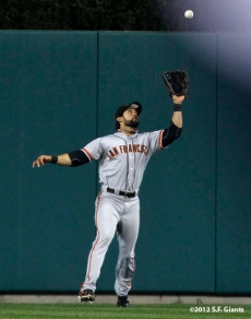 sf giants, photo, 10/27/2012, world series, game 3, angel pagan