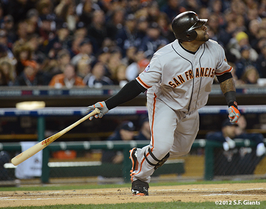 sf giants, photo, 10/27/2012, world series, game 3, pablo sandoval
