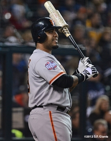 sf giants, photo, 10/27/2012, world series, game 3, hector sanchez