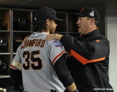 sf giants, photo, 10/27/2012, world series, game 3, brandon crawford, will clark