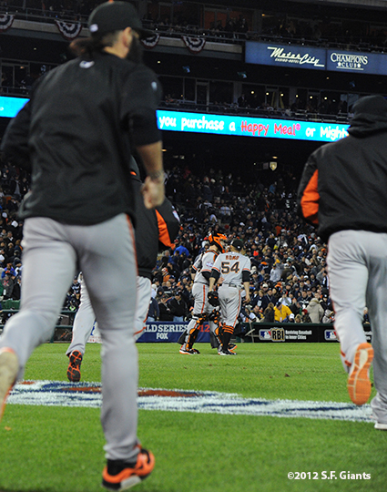 sf giants, photo, 10/27/2012, world series, game 3, team