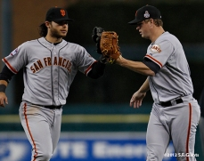 Brandon Crawford and Matt Cain