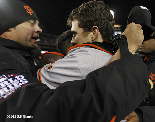 Ryan Vogelsong and Buster Posey