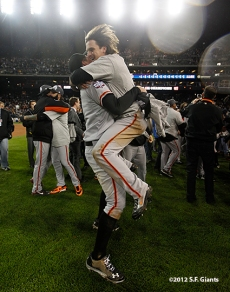 Brandon Belt and Ryan Theriot