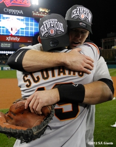 Marco Scutaro and Buster Posey