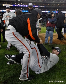 Madison Bumgarner and Brandon Belt