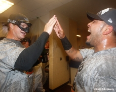 Matt Cain and Hector Sanchez
