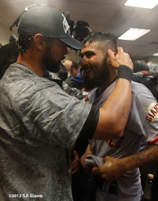 Angel Pagan and Sergio Romo