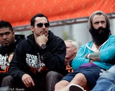 sf giants, san francisco giants, photo, parade, 10/31/2012, Clay Hensley, Brian Wilson