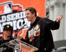 sf giants, san francisco giants, photo, parade, 10/31/2012, Matt Cain