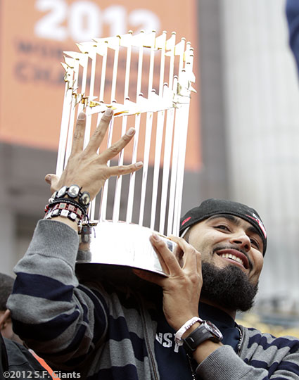 sf giants, san francisco giants, photo, parade, 10/31/2012, Sergio Romo