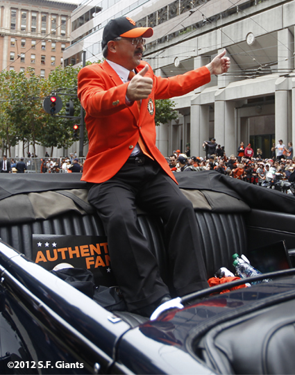 sf giants, san francisco giants, photo, 10/31/2012, parade, fans, mayor ed lee