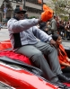 sf giants, san francisco giants, photo, parade, 10/31/2012, hall of fame, willie mccovey