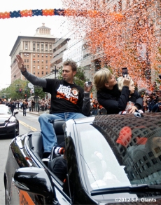 sf giants, san francisco giants, photo, parade, 10/31/2012, jeremy affeldt