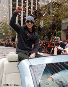 sf giants, san francisco giants, photo, parade, 10/31/2012, tim lincecum
