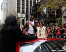 sf giants, san francisco giants, photo, parade, 10/31/2012, angel pagan