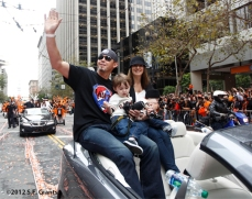 sf giants, san francisco giants, photo, parade, 10/31/2012, wli whiteside