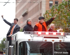 sf giants, san francisco giants, photo, 10/31/2012, parade, fansdave flamming, mike krukow, jon miller, duane kuiper