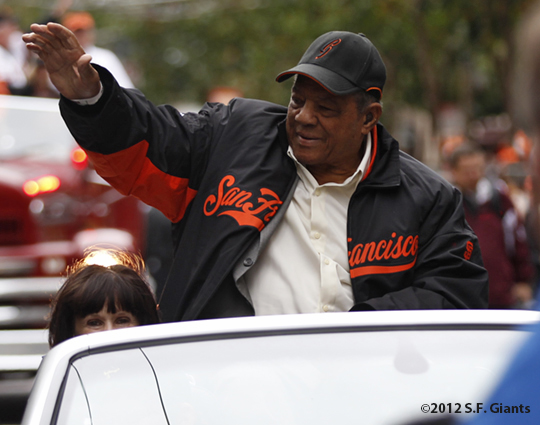 sf giants, san francisco giants, photo, parade, 10/31/2012, willie mays, hall of fame