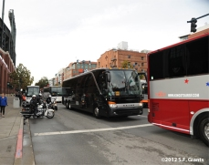 The Buses Leaving AT&T Park