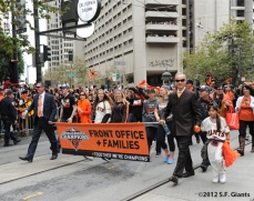 sf giants, san francisco giants, photo, 10/31/2012, parade, fans, front office staff