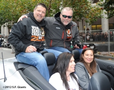 sf giants, san francisco giants, photo, parade, 10/31/2012, joe lefebvre, billy hayes