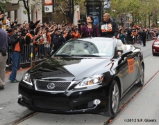 sf giants, san francisco giants, photo, parade, 10/31/2012, joaquin arias