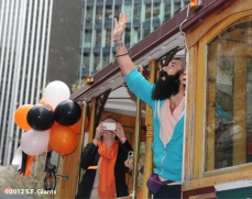 sf giants, san francisco giants, photo, parade, 10/31/2012, brian wilson