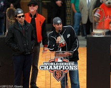 sf giants, san francisco giants, photo, parade, 10/31/2012, Barry Zito, Mike Krukow and Ryan Vogelsong