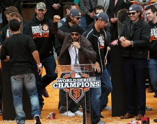 sf giants, san francisco giants, photo, parade, 10/31/2012, Angel Pagan