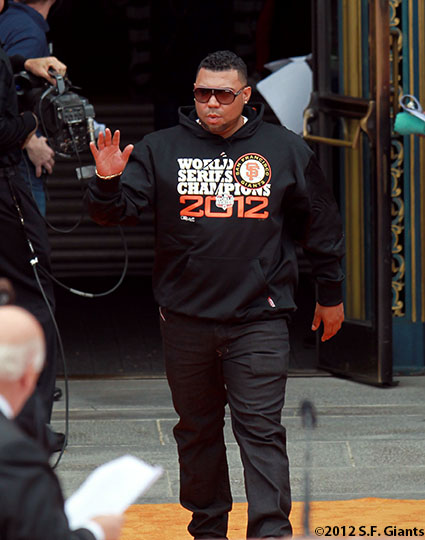 San Francisco Giants, S.F. Giants, photo 10/31/12, parade, Jose Mijares