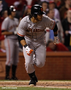 sf giants, san francisco giants, photo, 10/19/2012, nlcs game 5, brandon crawford