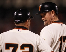 SF Giants, san francisco giants, photo, 10/14/2012, nlcs game 1, joe lefebvre, aubrey huff