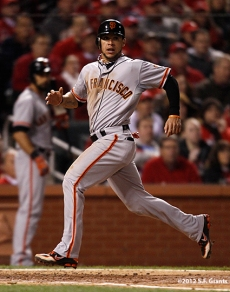 sf giants, san francisco giants, photo, 10/19/2012, nlcs game 5, gregor blanco