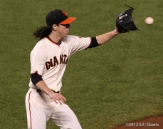 SF Giants, san francisco giants, photo, 10/14/2012, nlcs game 1, tim lincecum