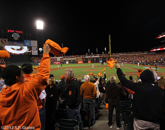 SF Giants, san francisco giants, photo, 10/14/2012, nlcs game 1, fans