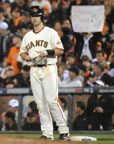 SF Giants, san francisco giants, photo, 10/14/2012, nlcs game 1, buster posey, fans