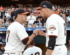 SF Giants, san francisco giants, photo, 10/14/2012, nlcs game 1, gregor blanco, hunter pence