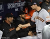 sf giants, san francisco giants, photo, 10/19/2012, nlcs game 5, bruce bochy, brandon belt