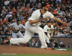 SF Giants, san francisco giants, photo, 10/14/2012, nlcs game 1, brandon belt