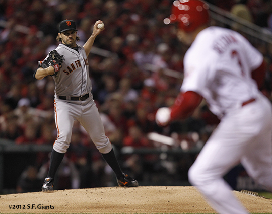 sf giants, san francisco giants, photo, 10/19/2012, nlcs game 5, barry zito