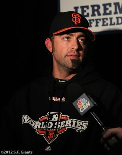 sf giants, san francisco giants, photo, media day, world series, JEREMY AFFELDT